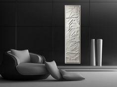 radiateur électrique comme sculpture abstraite GREENOR EDO par CINIER