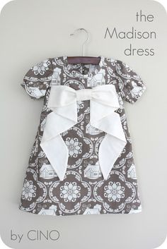 A-line dress + sleeves + giant bow (craftiness is not optional: the Madison dress)