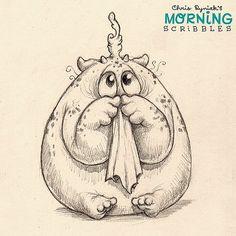 It's booger season! #morningscribbles | 출처: CHRIS RYNIAK