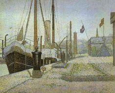La Maria Honfleur 1886    Artist:Georges Seurat