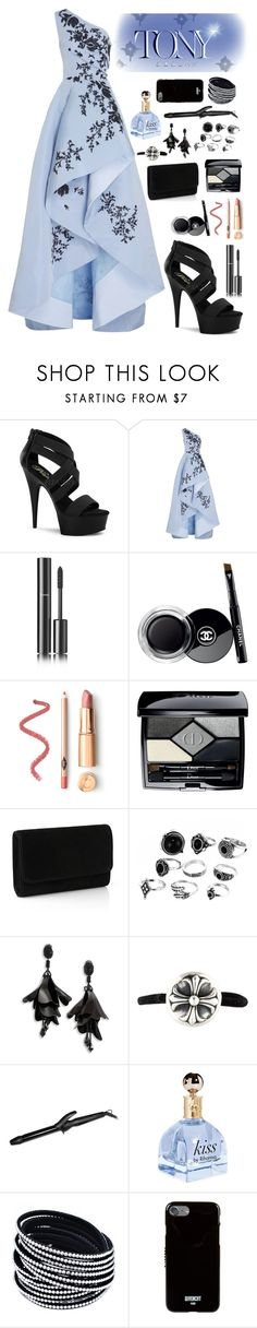 """Tony Awards"" by xxmonnyxx on Polyvore featuring Pleaser, Monique Lhuillier, Chanel, Christian Dior, Oscar de la Renta, Chrome Hearts, Bio Ionic and Givenchy"