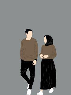 Cute Couple Wallpaper, Cute Disney Wallpaper, Wallpaper Iphone Cute, Cute Cartoon Wallpapers, Cute Couple Drawings, Cute Couple Art, Anime Couples Drawings, Couple Hijab, Cover Wattpad