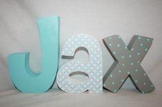 Hanging nursery letters nursery letters boys por WoodenWondersShop