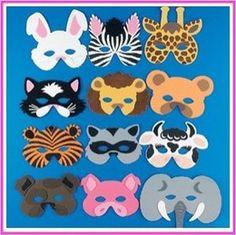 Animal Foam Masks |6 ct
