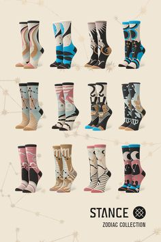 Hey girl, what's your sign? The Zodiac Collection from Stance is predestined to have your perfect match. Celestial styles to represent each of the 12 signs are available now. Express yourself with the Zodiac Collection by Stance.