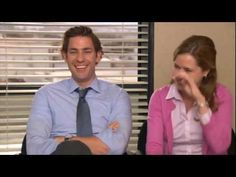 The Office Bloopers- Jim and Pam - YouTube They are toooo cute