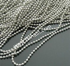 Stainless steel ball chain in bulk quantity,ready for cutting into necklace with connector. #ballchain #beadchain #militarydogtagballchain #militaryballchain #stainlessteelballchain #ballchainnecklace #ballchainspool #beadchainspool  #tfchain #2.4mmballchain #2.0mmballchain Dog Tags Military, Military Ball, Ball Chain, Stainless Steel, Diamond, Metal, Bracelets, Delivery, Accessories