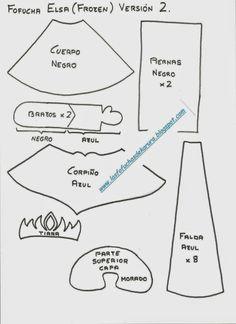 Las Fofuchas de Karura: Moldes fofucha Elsa (Frozen) Versión 2