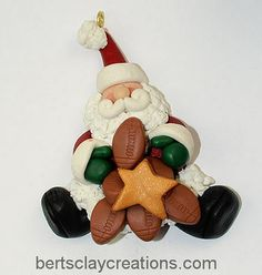 Football Anyone Ornament by BertsClayCreations on Etsy, $7.50
