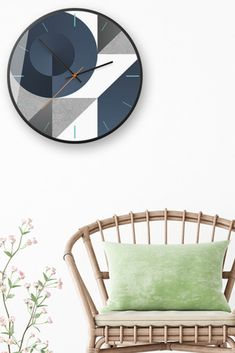 Feel the finesse of shapes and lines with a geometric wall clock.Besides their practical use, wall clocks are perfect for adding artful appeal to your kitchen wall or acting as a focal point in the living room. Our unique design and beautiful black metal frame will delight your eyes on a daily basis.