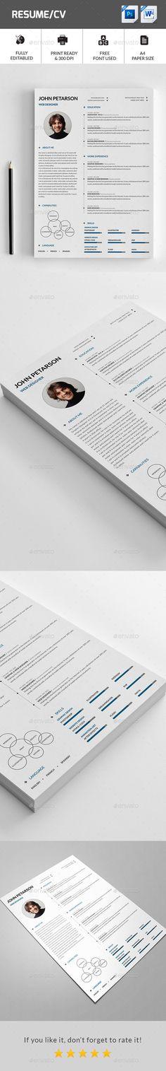 Resume Template PSD #design Download: http://graphicriver.net/item/resume/14430972?ref=ksioks