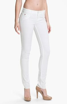 Hudson Jeans Skinny Stretch Jeans (New White Wash) available at #Nordstrom