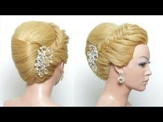 Hairstyle: French Roll. Updo For Long Medium Hair Tutorial - YouTube