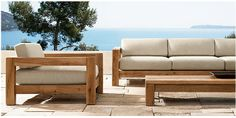 rustic patio seating from restoration hardware