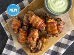 It's hard NOT to love Bell & Evans Chicken Wings. But you will not be able to resist making them for every party when they're wrapped in bacon and dipped in our original Avocado Lime sauce. Cabbage Recipes, Wing Recipes, Keto Recipes, Chicken Recipes, Cooking Recipes, Healthy Recipes, Yummy Appetizers, Appetizer Recipes, Oxtail Recipes