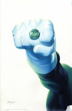This cover is so radiant. And I haven't looked yet, but I've been wanting a GL ring. Any suggestions on what and where to get it are more than welcome. Green Lantern, by Mike Mayhew. Green Lantern Power Ring, Green Lantern Corps, Green Lanterns, Comic Book Artists, Comic Books Art, Comic Art, Green Lantern Sinestro, Lantern Rings, Univers Dc