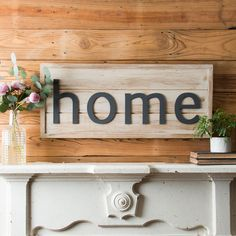 """Home"" Shiplap Sign – The Magnolia Market"