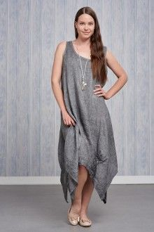 Made In Italy Italian Linen Classic round neckline sleeveless dress Dipped hemline to the sides Wearing length approx Cool hand wash Do not tumble dry Wash dark colours separately Accessories not included Italian Outfits, Italian Fashion, Italy Summer, Love Clothing, Summer Time, Fashion Online, Trending Outfits, Womens Fashion, Clothes