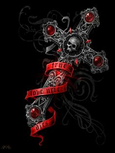 gothic cross and skull Cross Wallpaper, Gothic Wallpaper, Skull Wallpaper, Skull Tattoos, Body Art Tattoos, Tattoo Drawings, Cool Tattoos, Gothic Crosses, Gothic Art