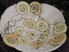 Gartendekoration - XXL Schale~Handarbeit~Keramik~Unikat~Deko-Teller~ - ein Designerstück von elfenfluestern bei DaWanda