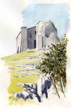 Eremo-S Albania, Watercolors, Painting, Art, Watercolor Painting, Art Background, Water Colors, Painting Art, Kunst