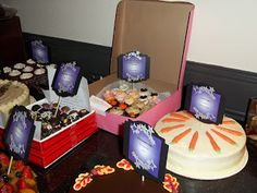 Another view of the Cake toppers for a National Domestic Violence Awareness Month charity auction