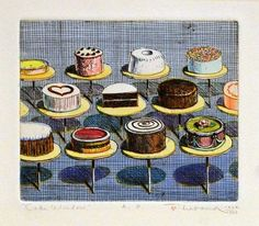 Wayne Thiebaud - more line less colours