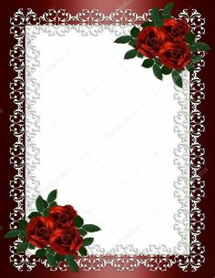 wedding invitation border red roses stock photo irisangel 2057541 for invitation red rose wedding Wedding Invitation Background, Photo Wedding Invitations, Wedding Invitation Design, Flower Backgrounds, Flower Wallpaper, Doodle Frames, Red Rose Wedding, Vintage Borders, Frame Background