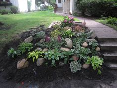 landscaping stairs | Chuck Does Art: Landscaping: Shady Hillside