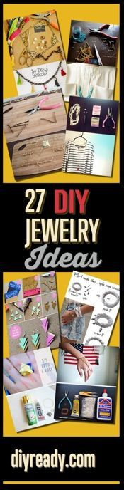 DIY Jewelry Ideas - Super DIY Jewelry Projects and Ideas for Homemade, Handmade Jewelry Making, Jewelry Organizer, Crafts http://diyready.com/handmade-jewelry-diy-bracelets-jewelry-making-ideas/