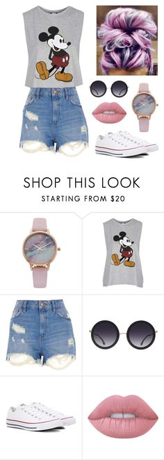 """""""Summer"""" by rachelakopp on Polyvore featuring Vivani, Topshop, River Island, Alice + Olivia, Converse and Lime Crime"""