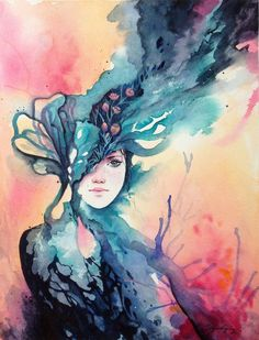 1 Watercolor  Painting_by_adelenta