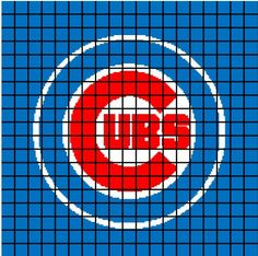 $5 Pattern - Chicago Cubs Crochet BABY Afghan Blanket by AngelicCrochetDesign