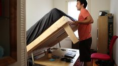 Living in a shoebox | Build a desk that turns into a double bed for $350