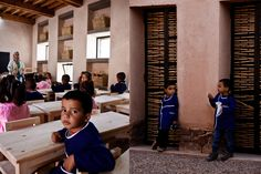 BC architects + MAMOTH, Preschool of Aknaibich, Morocco. Photo Frank Stabel