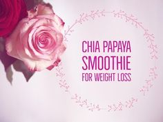 Chia Papaya Smoothie for Weight Loss - Healthy Indian Superfood Recipes - http://www.bestrecipetube.com/chia-papaya-smoothie-for-weight-loss-healthy-indian-superfood-recipes/