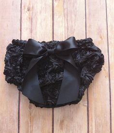 Black with rosettes and bow bloomers for baby girl and toddler girl, photo prop, diaper cover, easter, first birthday, birthday outfit