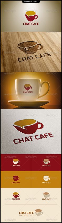 great use of the play on words to create a coffee cup with a chat bubble as the liquid inside the cup. innovative