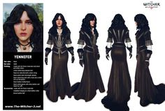 """ Yennefer of Vengerberg in detail. Yennifer Witcher, The Witcher Game, Witcher 3 Wild Hunt, Fantasy Story, Fantasy Rpg, Fantasy Girl, The Witcher Book Series, Female Characters, Fantasy Characters"