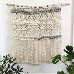 Macrame Wall Hanging Patterns, Weaving Wall Hanging, Large Macrame Wall Hanging, Macrame Patterns, Wall Hangings, Macrame Design, Macrame Art, Macrame Projects, Art Macramé