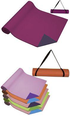 Da Vinci 2-Tone Deep Blue Iris & Violet Yoga Mat with Free Carry Strap