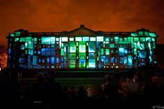 """Illuminating York 2011 in York city centre, a 15 minute 3D-projection mapping display onto Castle Museum entitled """"Envisions"""" by United VJs & GaiaNova #art #light #festival #UK #installation"""