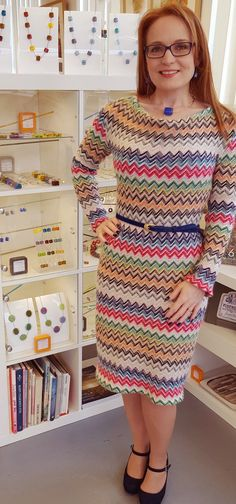 SOIshowoff March: Sew Over It Cowl Neck Dress in gorgeous Missoni fabric Sew Over It Patterns, Pdf Sewing Patterns, Cowl Neck Dress, Cowl Neck Top, Missoni, March, Shape, Pretty, Clothing