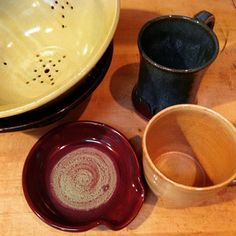 New pottery on sale by Whitney Daley! Proceeds help high school art students enter art shows for scholarship money.