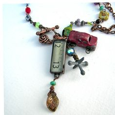 Necklace  Junk In The Trunk  Smile Inducing Toys and by Msemrick, $43.00