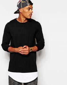 ASOS Super Longline Long Sleeve T-Shirt With Extended Hem