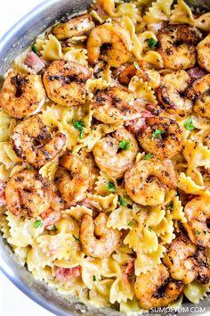 Cajun Shrimp Pasta is so quick and easy to make. Creamy, spicy and delicious! - Cajun Shrimp Pasta is so quick and easy to make. Creamy, spicy and delicious! You can have dinner r - Cajun Shrimp Pasta, Butter Shrimp, Garlic Butter, Healthy Shrimp Pasta, Shrimp Pasta Dishes, Spicy Pasta, Shrimp And Sausage Pasta, Healthy Pasta Dishes, Pasta Food