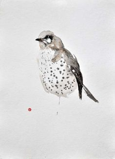 """Zen Calligraphy. Subject? Birds. """"When we paint from our true feelings, we all paint something beautiful."""" Karl Mårtens, a featured artist at the Project Puffin Visitor Center in Rockland Maine paints..."""