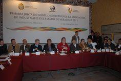 El gobernador del estado de Veracruz Javier Duarte asistió a la primera junta con el Consejo Directivo de la Asociación de Industriales del Estado de Veracruz (AIEVAC), evento que se llevó a cabo el 11 de febrero de 2011, en el cual se refrendó el compromiso del gobierno del estado de apoyar a los empresarios veracruzanos.