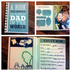 Homemade Father's Day Gift From Kids- Dad and Grandpa- printable books- super cute